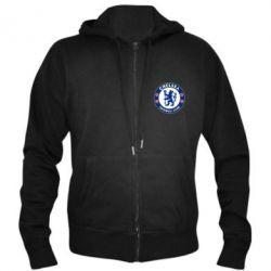 Купить Челси (Chelsea), Мужская толстовка на молнии FC Chelsea, FatLine