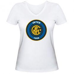 Женская футболка с V-образным вырезом FC Inter - FatLine