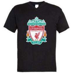 Мужская футболка  с V-образным вырезом FC Liverpool - FatLine