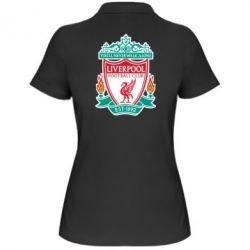 Женская футболка поло FC Liverpool - FatLine