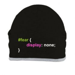 Шапка Fear display none