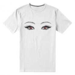 Чоловіча стрейчева футболка Female vector eyes