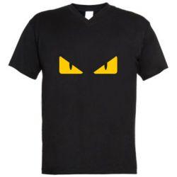 Чоловіча футболка з V-подібним вирізом Fendi eyes