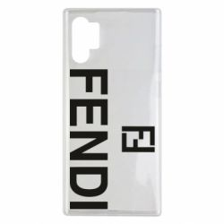 Чехол для Samsung Note 10 Plus Fendi logo
