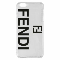 Чехол для iPhone 6 Plus/6S Plus Fendi logo