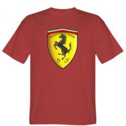 Мужская футболка Ferrari 3D Logo - FatLine