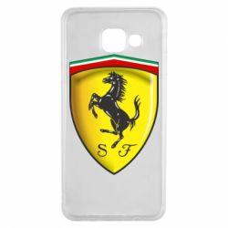 Чехол для Samsung A3 2016 Ferrari 3D Logo