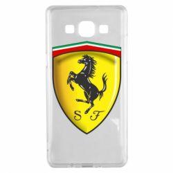 Чехол для Samsung A5 2015 Ferrari 3D Logo
