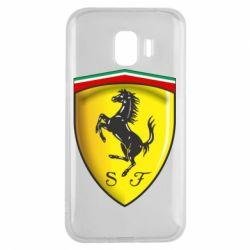 Чехол для Samsung J2 2018 Ferrari 3D Logo