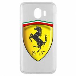 Чехол для Samsung J4 Ferrari 3D Logo