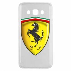 Чехол для Samsung J5 2016 Ferrari 3D Logo