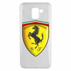 Чехол для Samsung J6 Ferrari 3D Logo