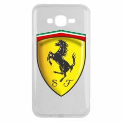 Чехол для Samsung J7 2015 Ferrari 3D Logo