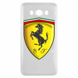 Чехол для Samsung J7 2016 Ferrari 3D Logo