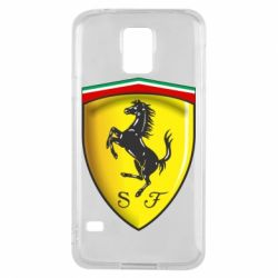 Чехол для Samsung S5 Ferrari 3D Logo