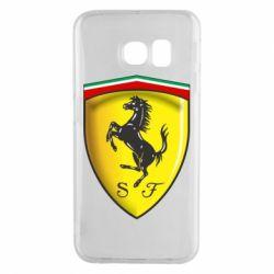 Чехол для Samsung S6 EDGE Ferrari 3D Logo