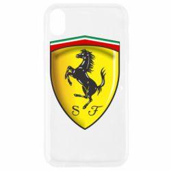 Чехол для iPhone XR Ferrari 3D Logo