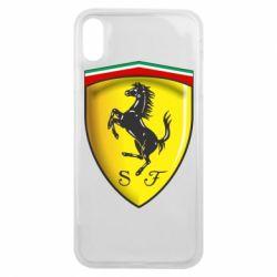 Чехол для iPhone Xs Max Ferrari 3D Logo