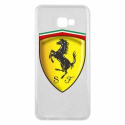 Чехол для Samsung J4 Plus 2018 Ferrari 3D Logo