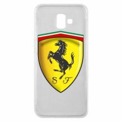Чехол для Samsung J6 Plus 2018 Ferrari 3D Logo