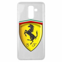 Чехол для Samsung J8 2018 Ferrari 3D Logo