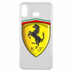 Чехол для Samsung A6s Ferrari 3D Logo