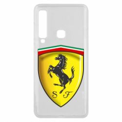 Чехол для Samsung A9 2018 Ferrari 3D Logo