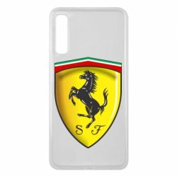 Чехол для Samsung A7 2018 Ferrari 3D Logo