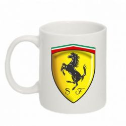 Кружка 320ml Ferrari 3D Logo - FatLine
