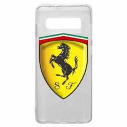 Чехол для Samsung S10+ Ferrari 3D Logo