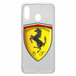 Чехол для Samsung A20 Ferrari 3D Logo