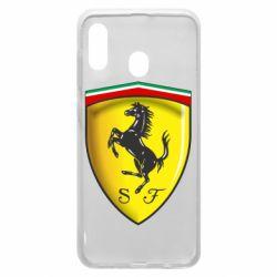 Чехол для Samsung A30 Ferrari 3D Logo