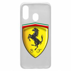 Чехол для Samsung A40 Ferrari 3D Logo