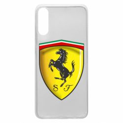 Чехол для Samsung A70 Ferrari 3D Logo