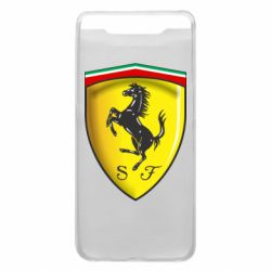 Чехол для Samsung A80 Ferrari 3D Logo