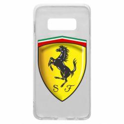 Чехол для Samsung S10e Ferrari 3D Logo