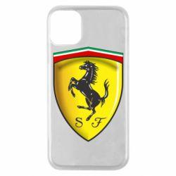 Чехол для iPhone 11 Pro Ferrari 3D Logo