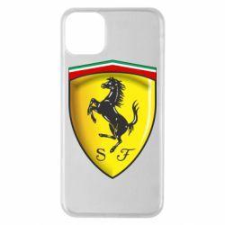 Чехол для iPhone 11 Pro Max Ferrari 3D Logo