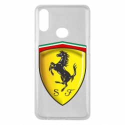Чехол для Samsung A10s Ferrari 3D Logo