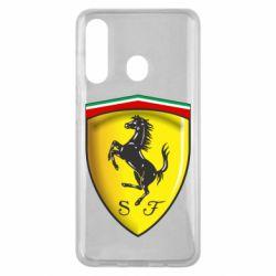 Чехол для Samsung M40 Ferrari 3D Logo