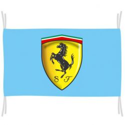 Флаг Ferrari 3D Logo