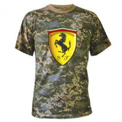 Камуфляжная футболка Ferrari 3D Logo - FatLine