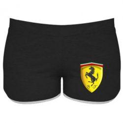 Женские шорты Ferrari 3D Logo
