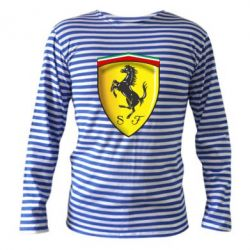Тельняшка с длинным рукавом Ferrari 3D Logo - FatLine