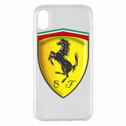 Чехол для iPhone X/Xs Ferrari 3D Logo
