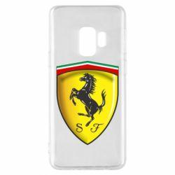 Чехол для Samsung S9 Ferrari 3D Logo