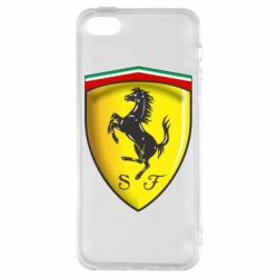 Чехол для iPhone5/5S/SE Ferrari 3D Logo