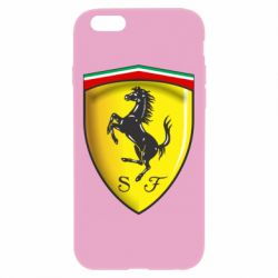Чехол для iPhone 6 Plus/6S Plus Ferrari 3D Logo