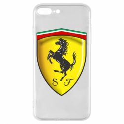 Чехол для iPhone 7 Plus Ferrari 3D Logo
