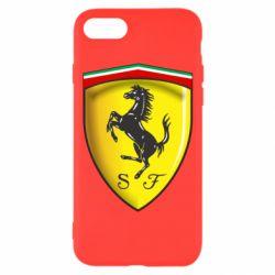 Чехол для iPhone 8 Ferrari 3D Logo